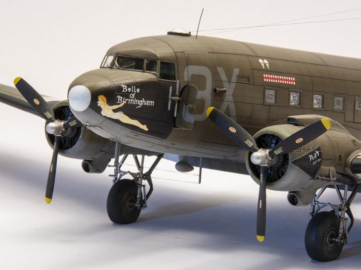 Douglas C-47 Skytrain v měřítku 1/72